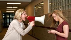 megaphone-mother-yelling-daughter
